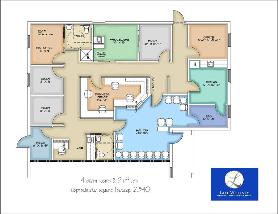 medical office layout | sample floor plans and photo gallery
