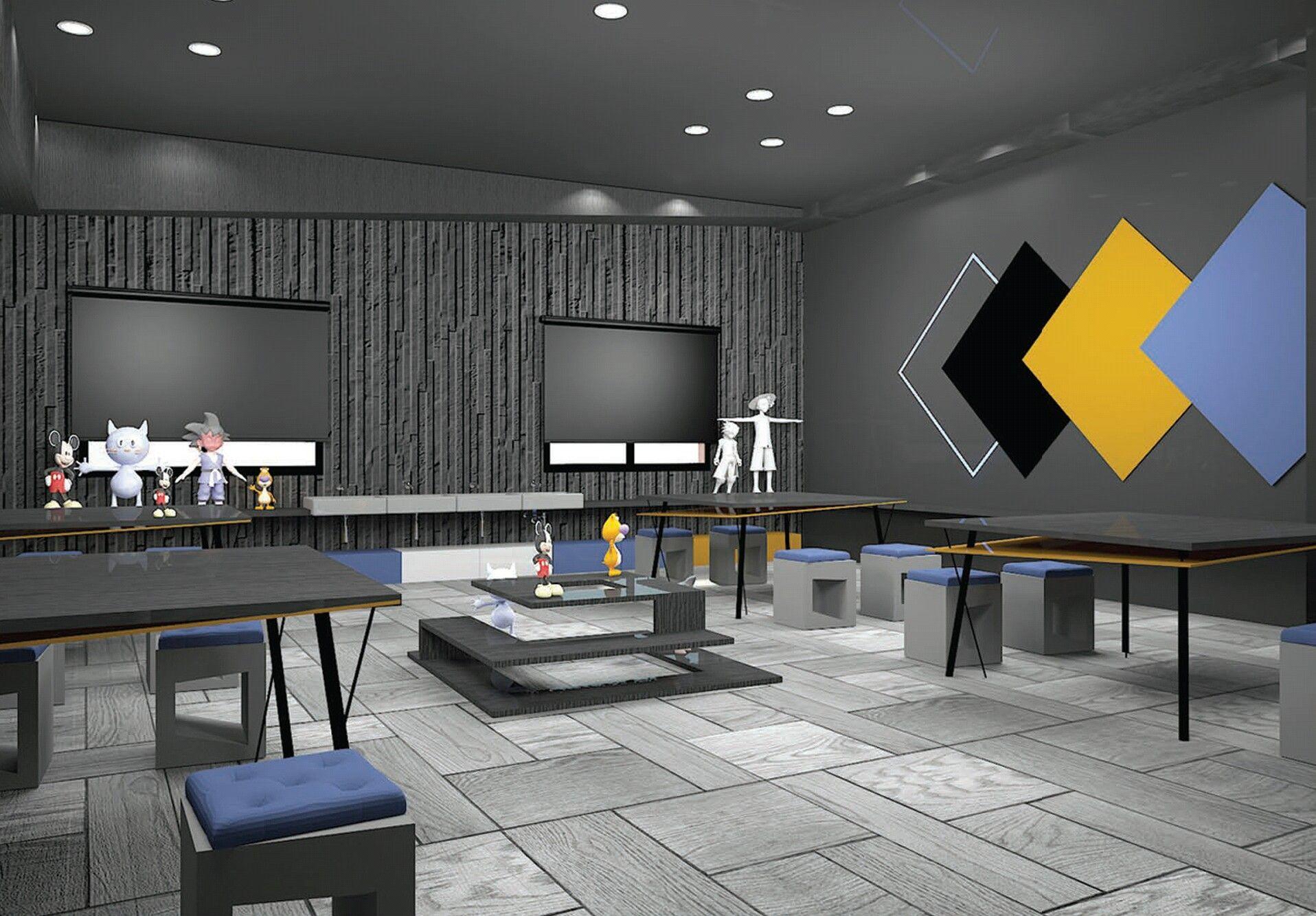 3d Workshop Animation Center Graduation Project Interior Design Animation Animation