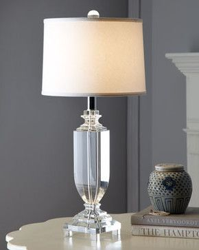 Great Clear Crystal Table Lamp   Traditional   Table Lamps     By Horchow