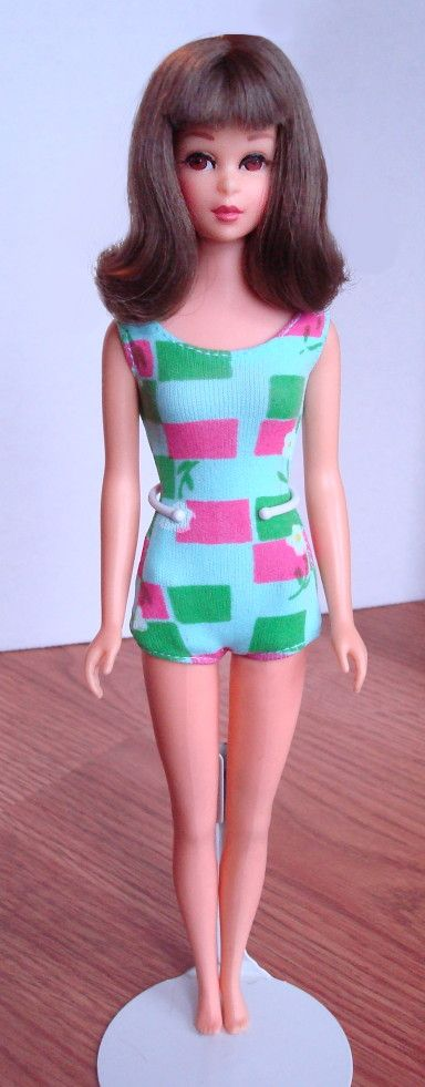 """Francie! Barbie's cool cousin & the 1st with """"real eyelashes""""! I loved her."""