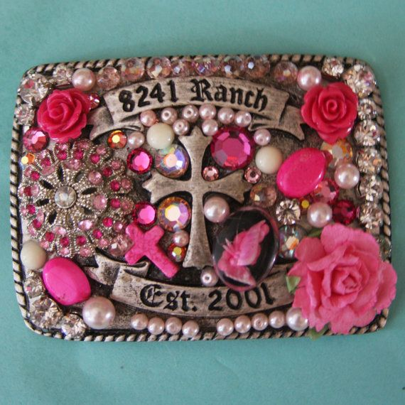 Rosie Belt Buckle by StandOutInTheHerd on Etsy, $45.00
