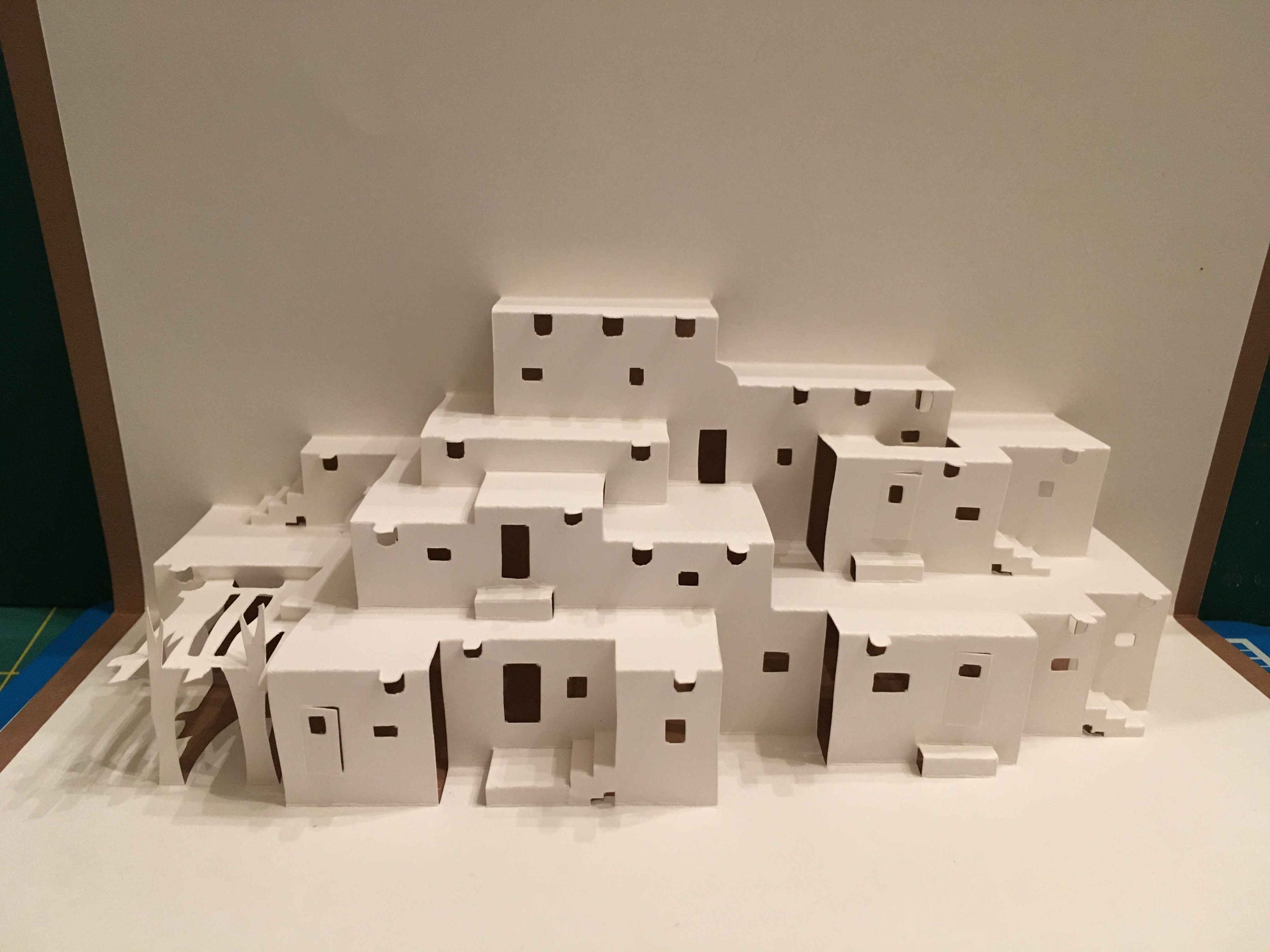 Taos Pueblo Pop Up Card Template From The Paper Architect Fold It Yourself Buildings And Structures Pop Up Card Templates Taos Pueblo Pueblo