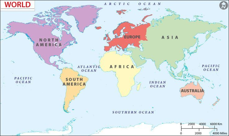 Continents Map Dr Odd EDUCATIONAL Pinterest - Map of continents