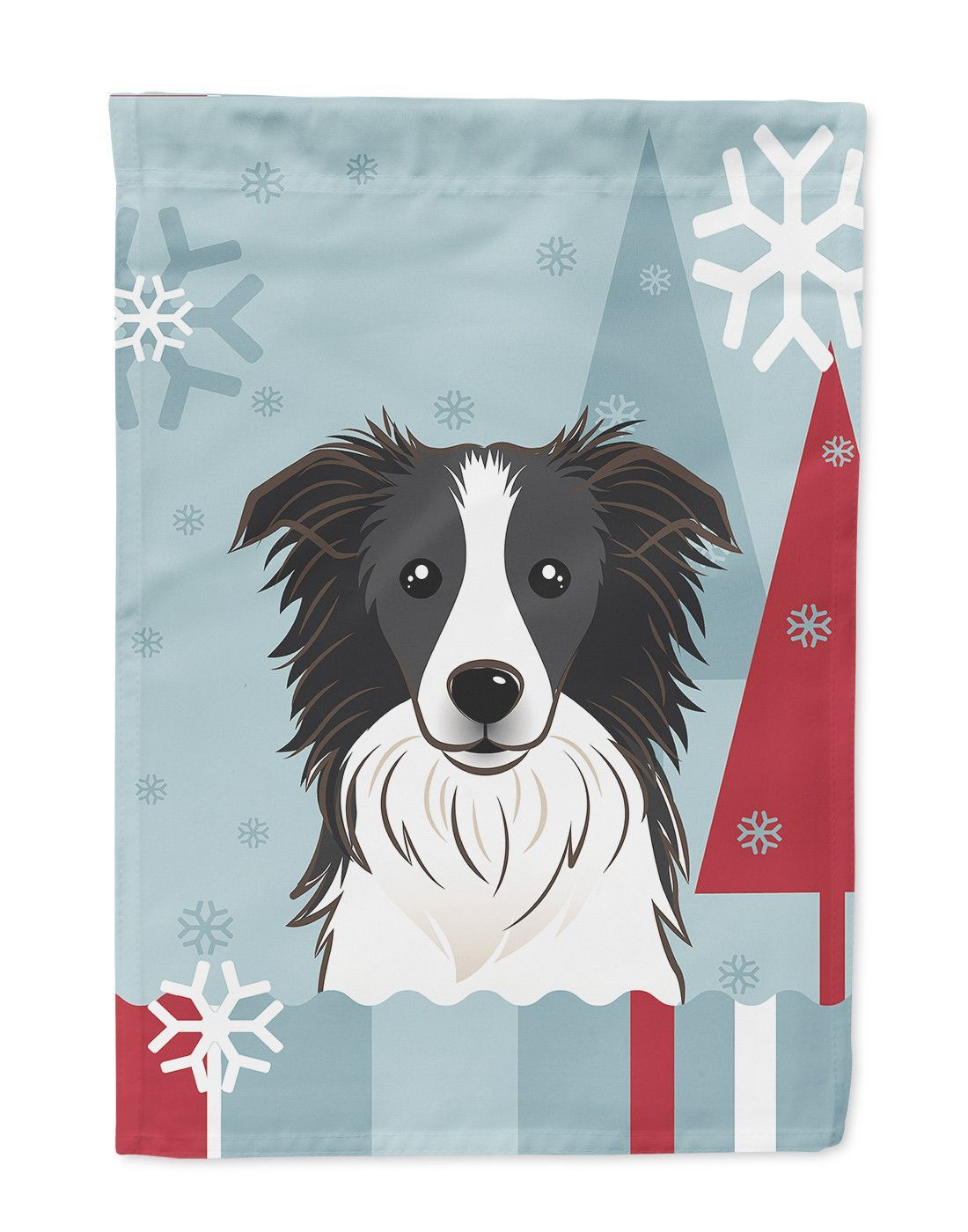 winter holiday border collie flag garden size bb1737gf winter