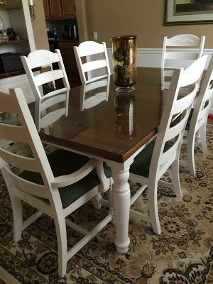 Broyhill Fontana Dining Table Refinished With Rustoleum Painter S