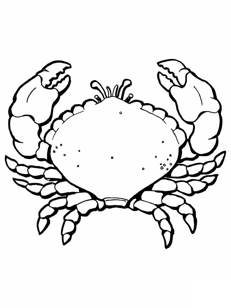 Free Printable Crab Coloring Pages | Moana bday | Pinterest | Free ...