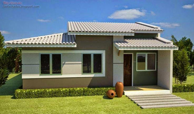 Dise os de fachadas de casas peque as de un piso for Disenos de casas pequenas