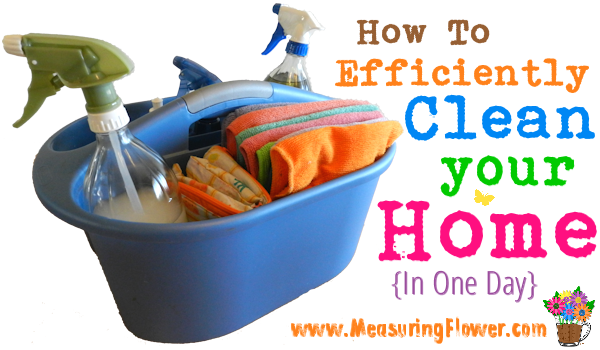How to Efficiently Clean Your Home in One Day {takes me ...