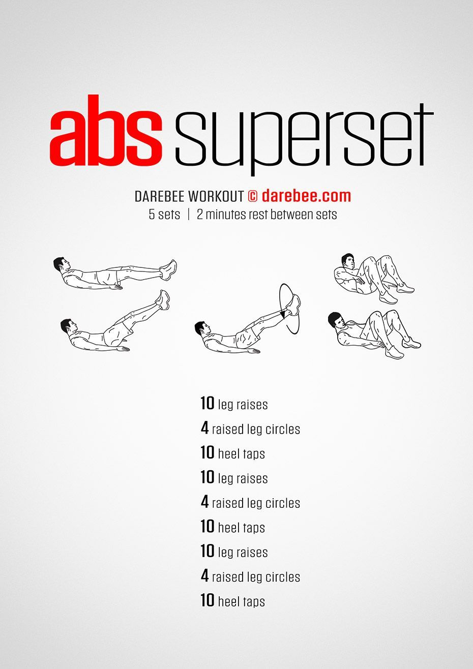 Abs Superset Workout by DAREBEE #workout #fitness #darebee #abs #core #workoutclub
