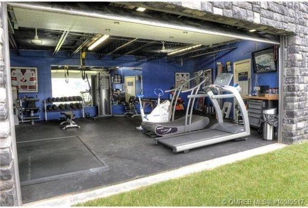 How badass is this garage gym no driveway just grass