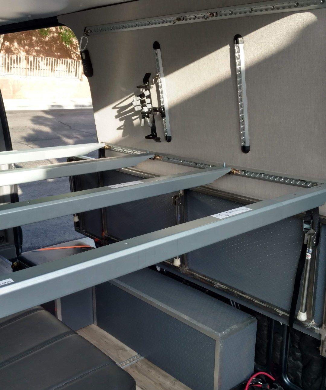 Sprinter Van Diy 3 Panel Platform Bed On L Track Campervan Bed