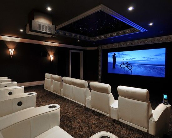 Stunning Modern and Traditional Home Theater Room Design