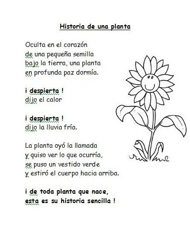 Resultado De Imagen Para Poesia Para Ninos La Pequena Semilla Con
