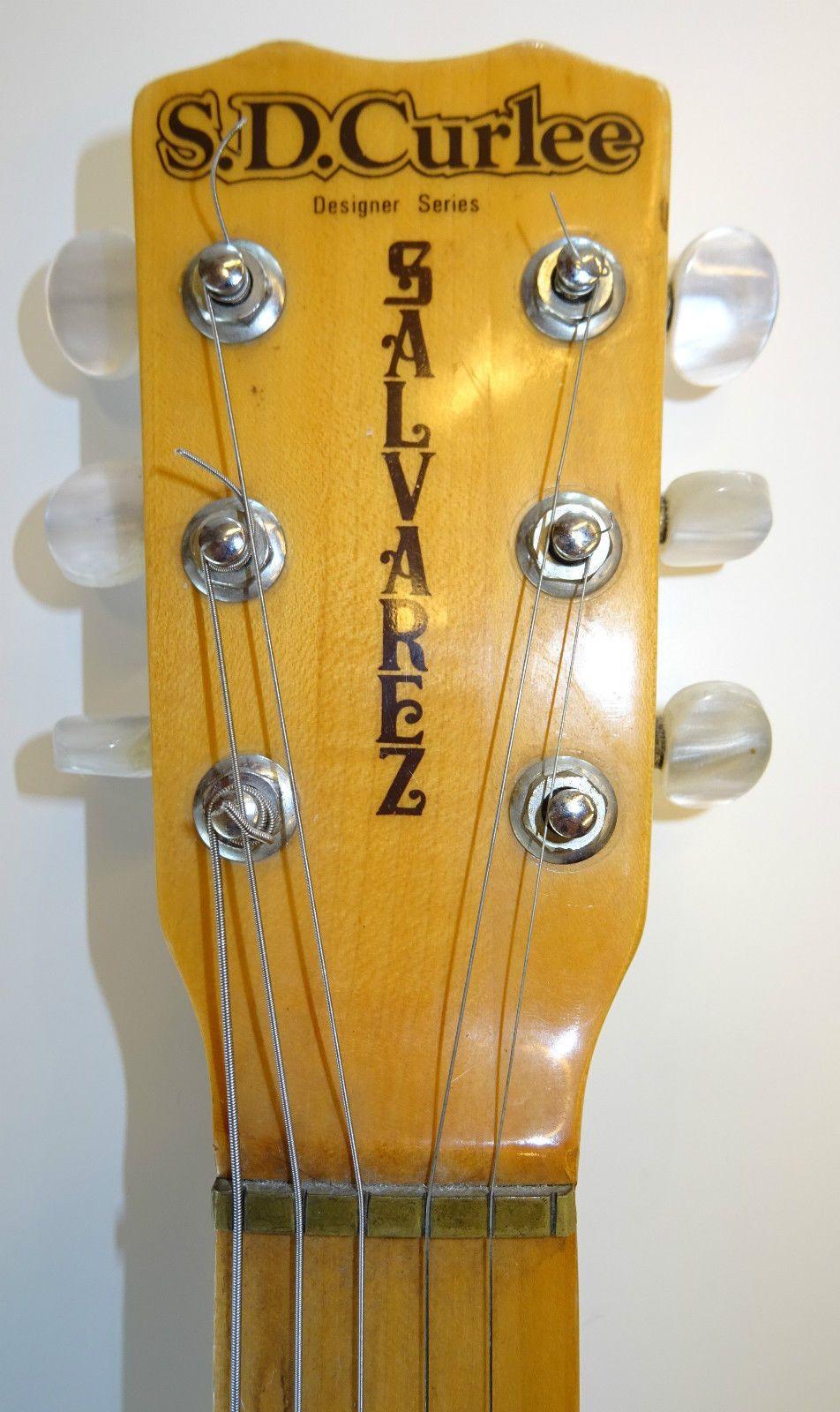 70er Jahre Vintage E-Gitarre Bass S.D. Curlee Salvarez HD700N Japan ...