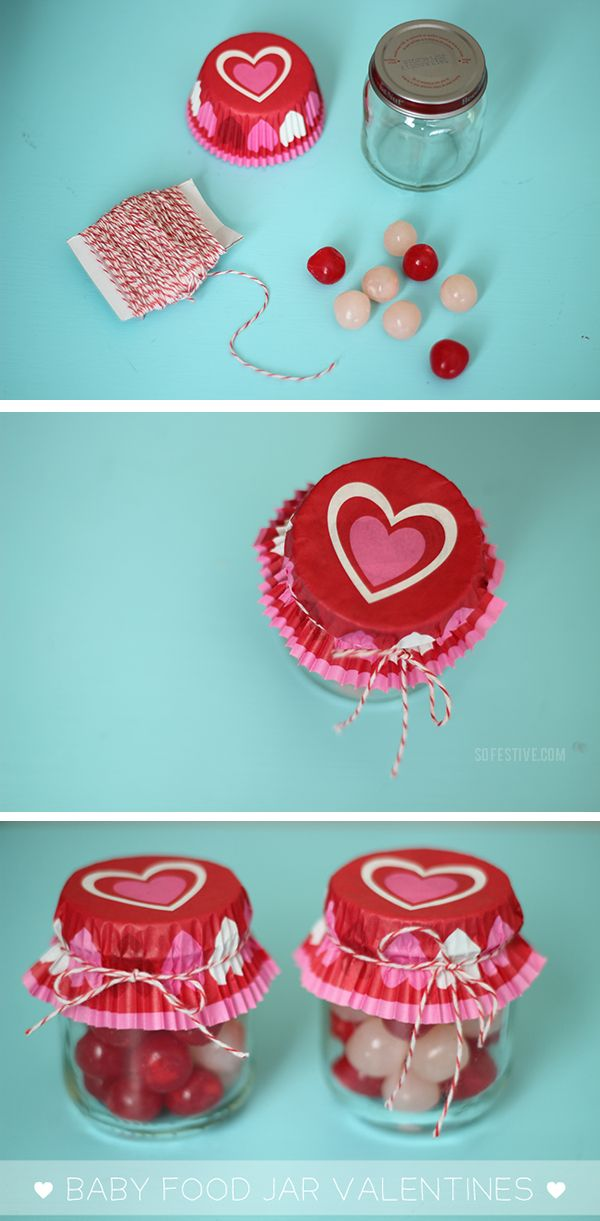 5 Minute Diy Baby Food Jar Valentines Gift Ideas Valentines