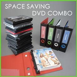 Exceptional DVD Binder Storage Set For 20 DVDu0027s Movie Covers U0026 Booklets. Space Saving DVD  Storage Binder Set Saves Space Over Standard DVD Boxes