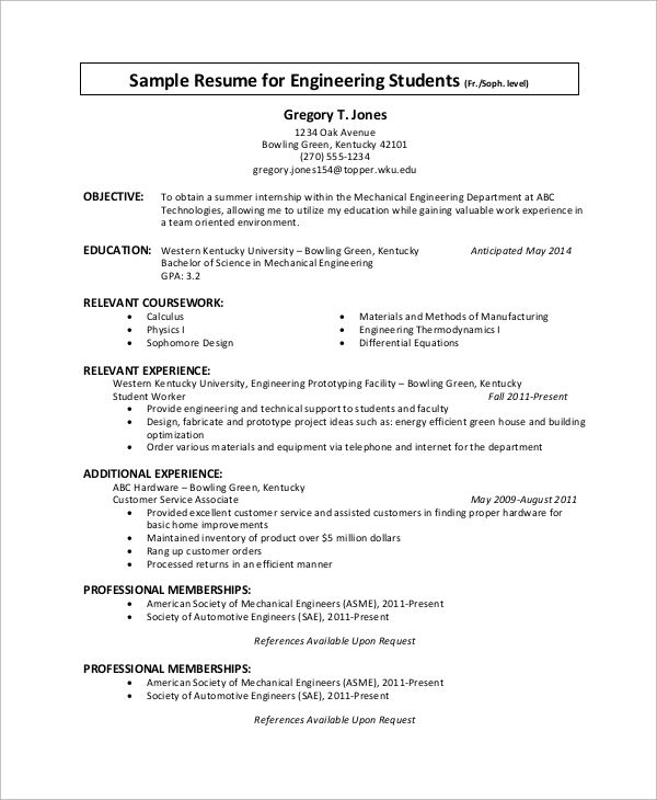 sample internship resume examples word pdf resumes and cover - relevant coursework resume