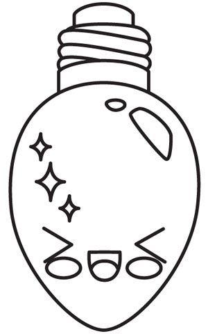 Kawaii Christmas Giggling Light Embroidery Dibujos De