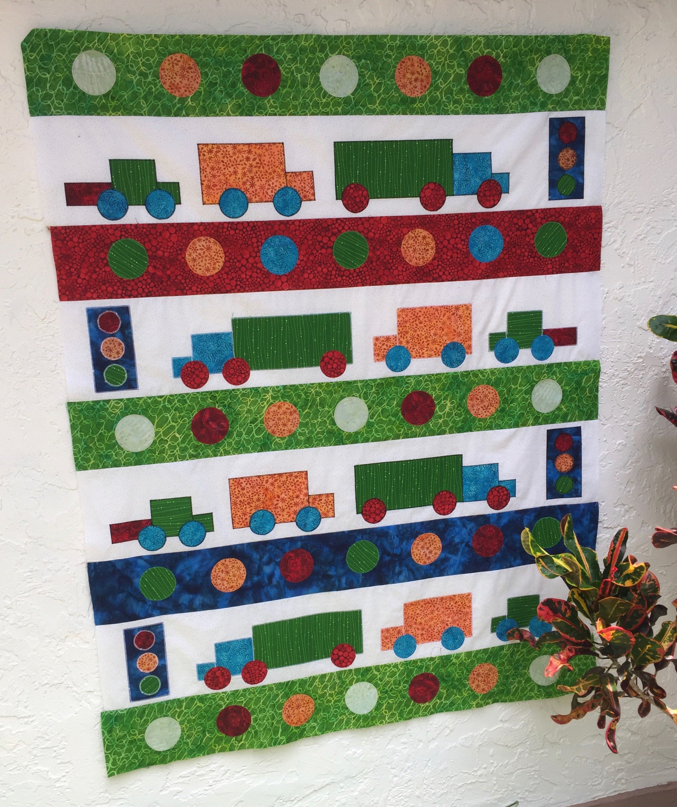 Quilt Top, Handmade Quilt Top, City Streets Baby Quilt by ...