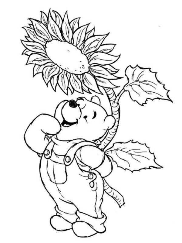Winnie The Pooh Disney Spring Coloring Pages Spring Coloring