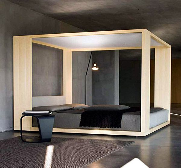 Image detail for -... Cinova: Modern Four-Poster Bed: Temple Cinova - bedroom-design-temple