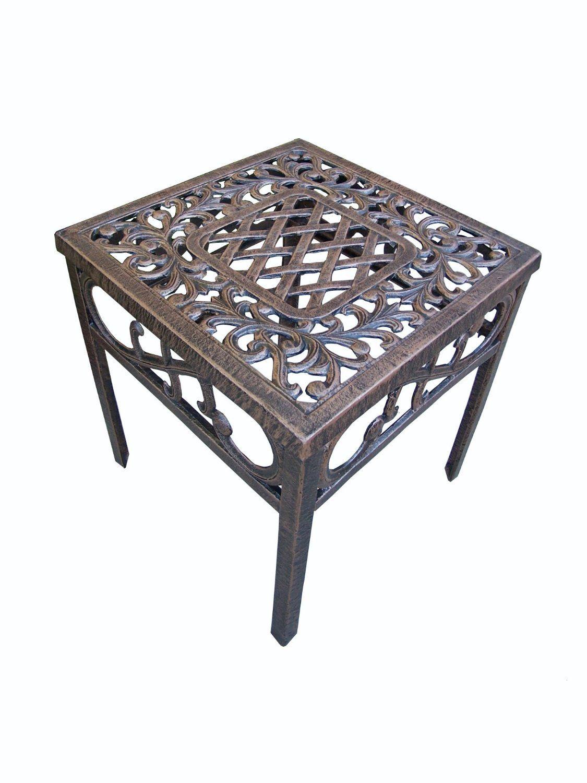 Amazon Com Oakland Living Mississippi Cast Aluminum End Table 18