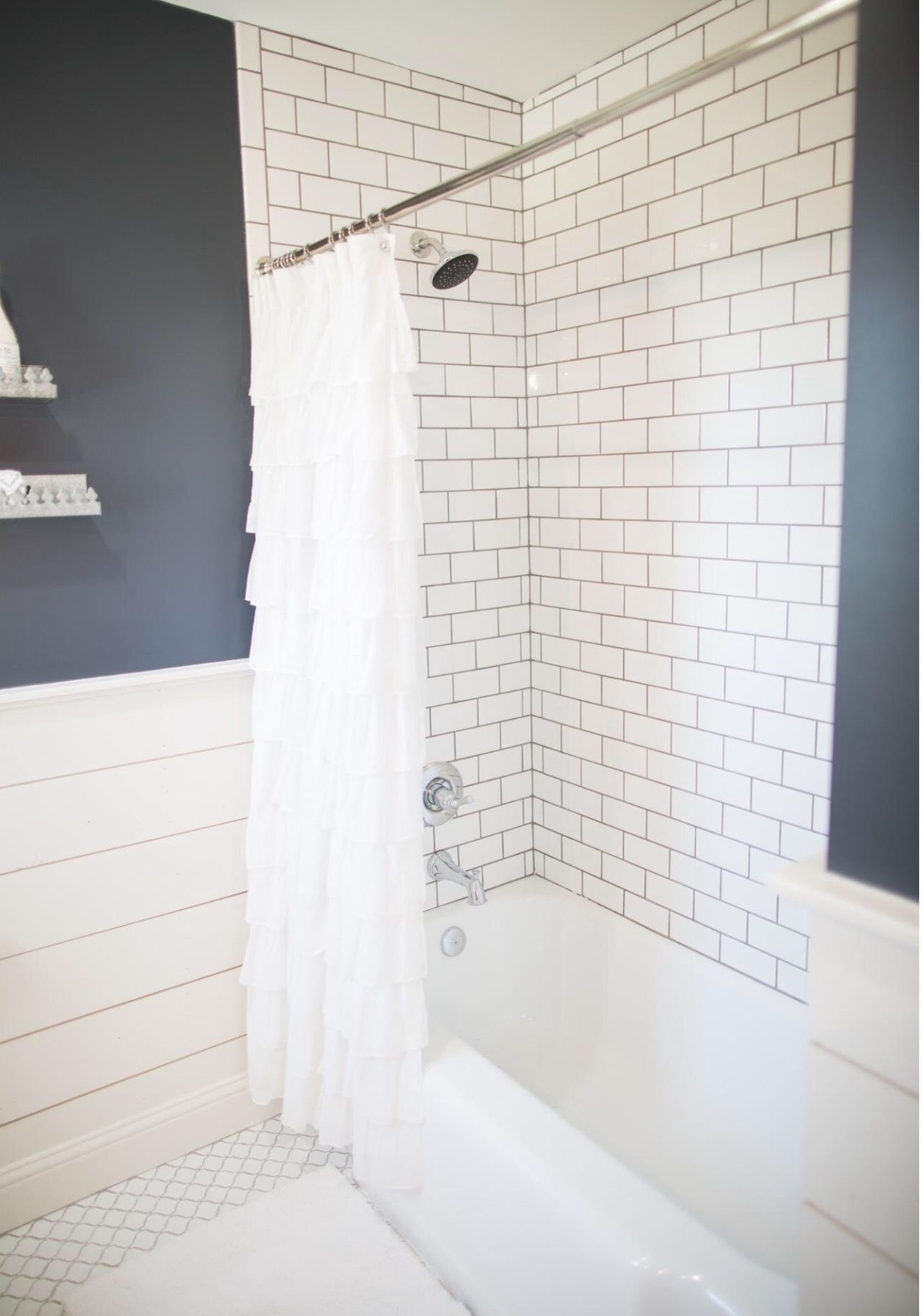 subway tile to ceiling, bead board rest of the walls | BATHROOM RE ...