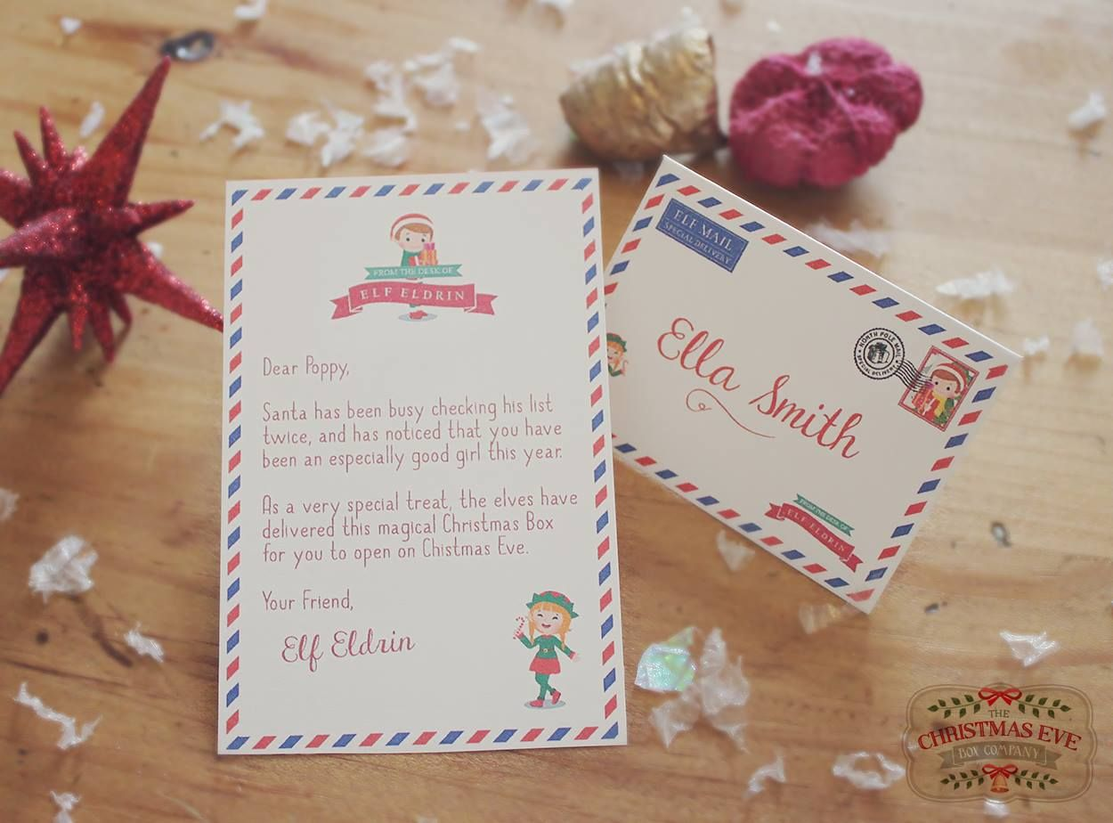 Mini Elf Letter, part of our Christmas Eve Box availble to buy ...