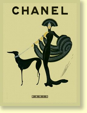 I would decorate my house with Chanel advertising.