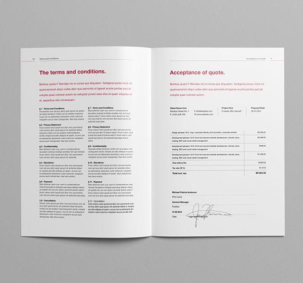 Proposal Template Suisse Design v2 on Behance brand design - microsoft proposal templates