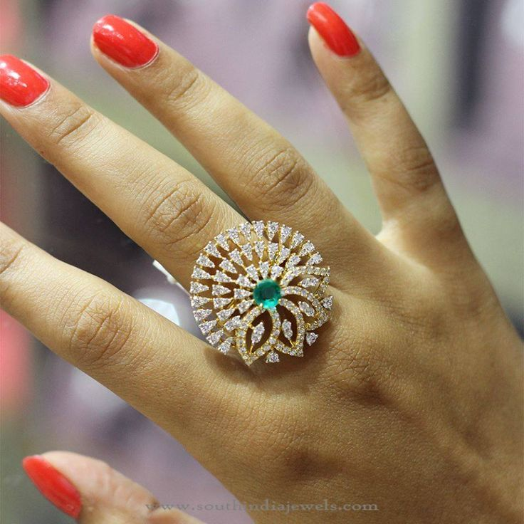 Gold Emerald Ring From Manubhai South India Jewels Emeralds