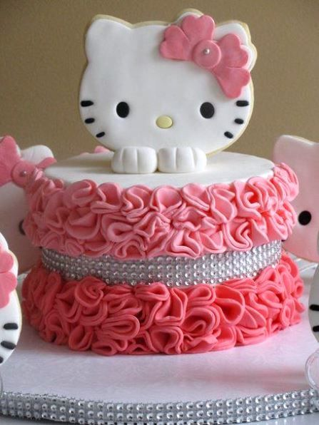 Pleasing Hello Kitty Birthday Party Ideas Hello Kitty Taart Hello Kitty Funny Birthday Cards Online Inifodamsfinfo