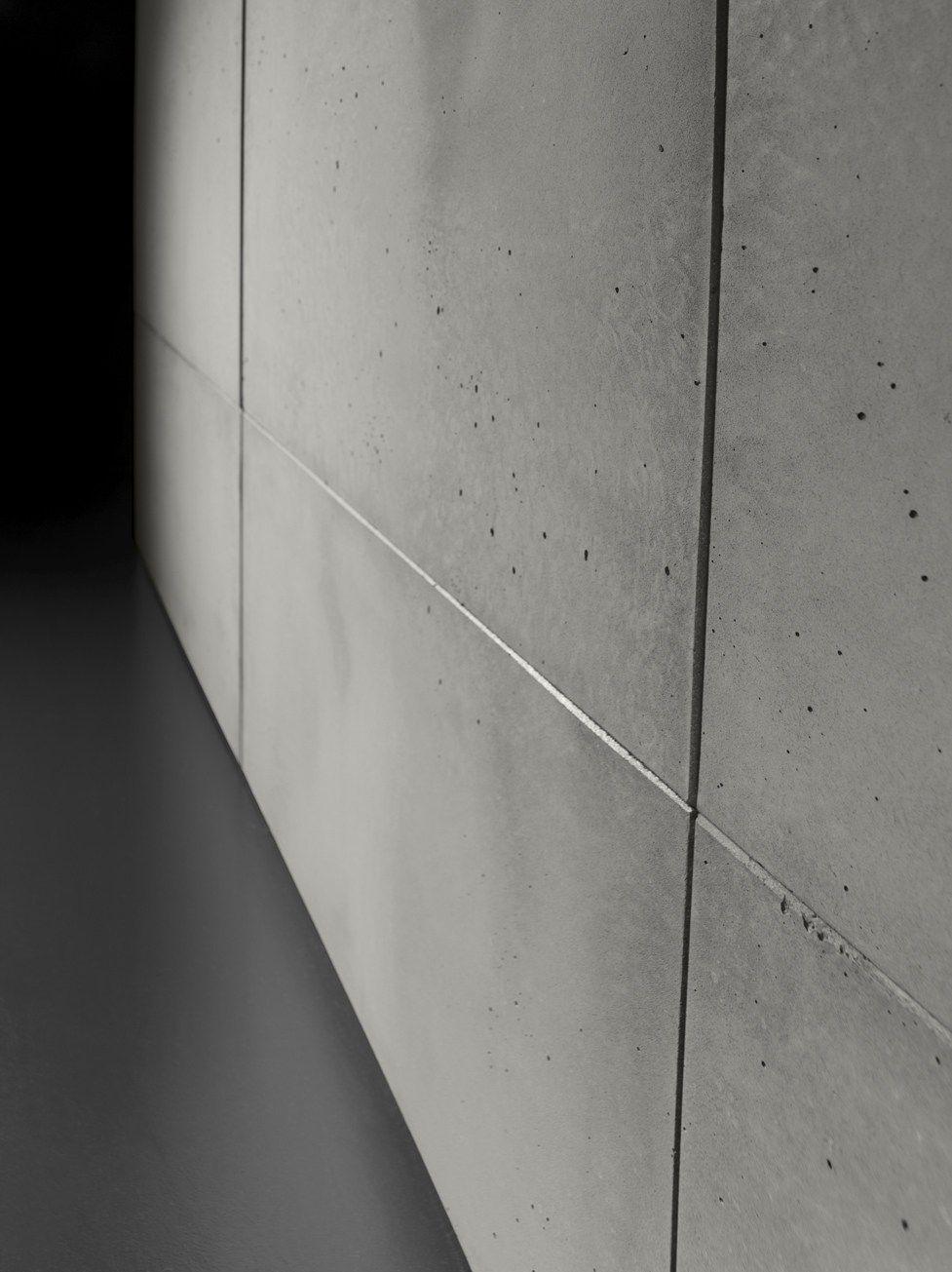 Indoor Smooth Concrete Wall Tiles Cimento Liscio Cement Door Panel By Sai Industry Srl Concrete Wall Concrete Wall Panels Cement Walls