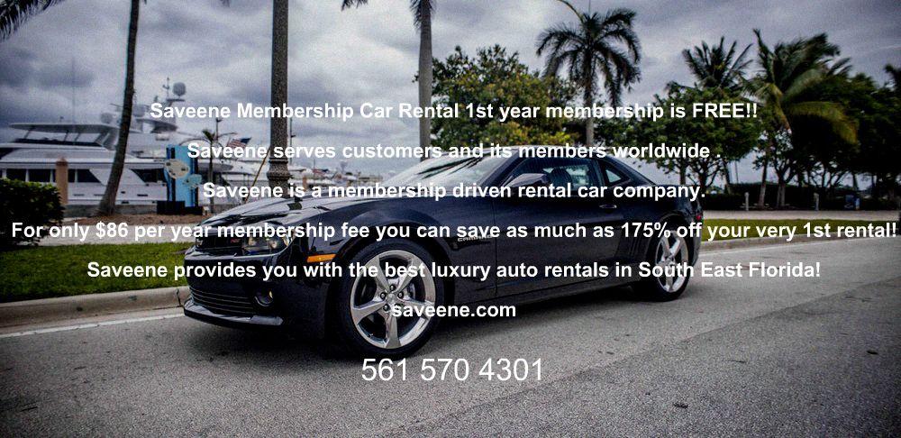 saveene membership car rental 1st year membership is free!! saveene