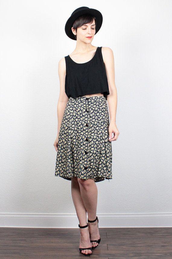 Vintage 90s Skirt Soft Grunge Skirt Mini Skirt Liberty