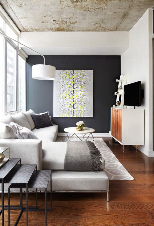 Like The Dark Wall Contrast Maybe For The Living Room Office