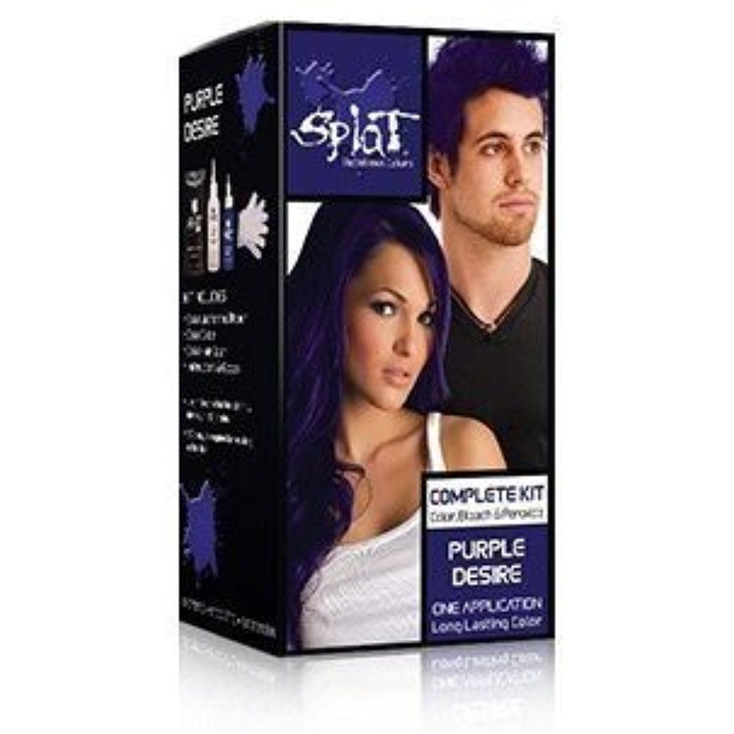Splat Rebellious Colors Hair Coloring Complete Kit Purple Desire By Developlus Inc Check Out This Great P Splat Hair Bleach Bleached Hair Splat Hair Color