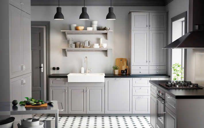 Gråa luckan Bodbyn från Ikea KUHINJA Pinterest Basteltische - küche online planen ikea