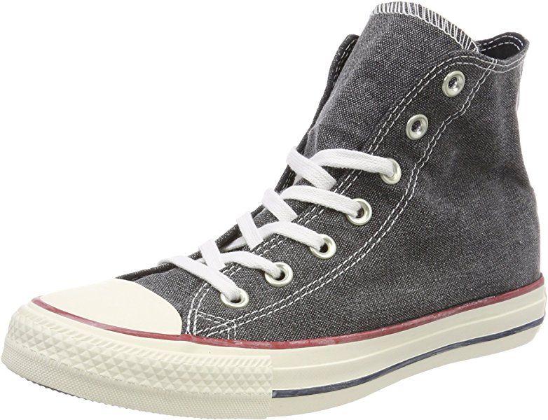Converse Chuck Taylor CTAS Hi Cotton, Chaussures de Fitness Mixte Adulte, Rouge (Enamel Red/Enamel Red/White 603), 41.5 EU
