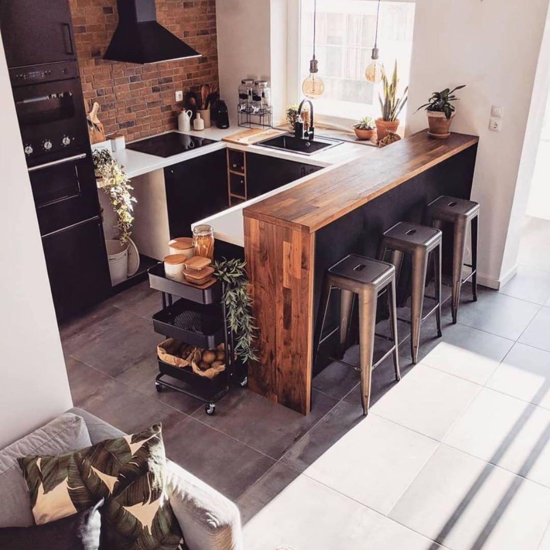 Inspi Deco On Instagram Kitchen Decor Inspi The First Floor Picoftheday Instalike Kitchen Kitchendesign In 2020 Kuche Loft Kuchen Design Kuchendesign