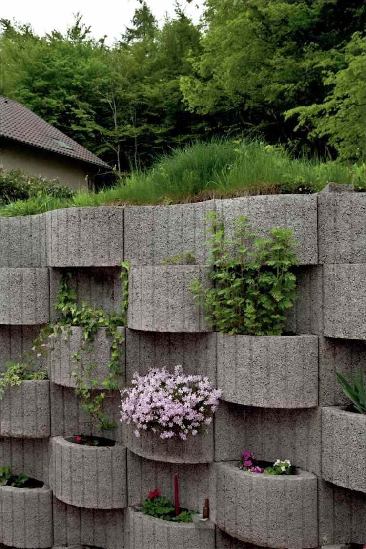Pflanzringen Bilden Stützmauer Im Hanggarten | Haus | Pinterest ... Pflanzringe Beton Setzen Gartengestaltung