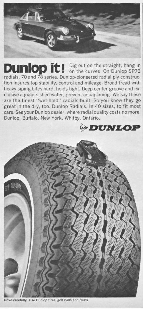 1971 Porsche 911 Dunlop Radial Tires Vintage Print Ad | eBay