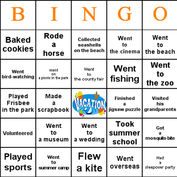 First Day Of School Activities  Bingo Is A Great First Day Of