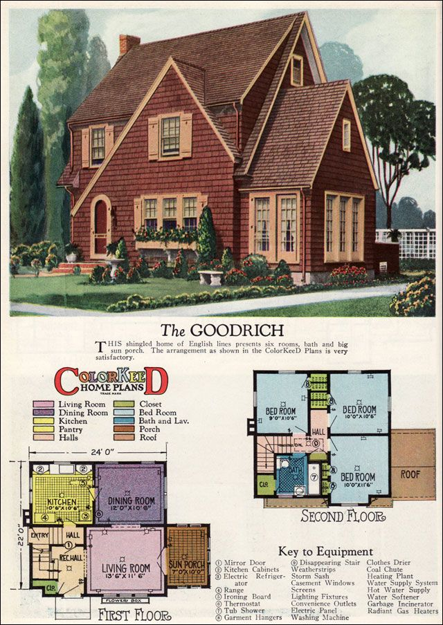 1927 American Builder   Goodrich By Radford This English Cottage Style Home  With Three Bedrooms And