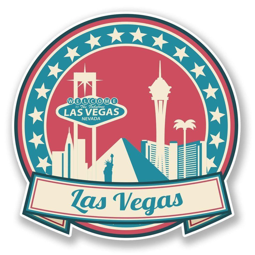2 X Las Vegas Nevada Usa Vinyl Sticker 6735 Print Vinyl Stickers Print Stickers Vinyl Stickers Laptop [ 1024 x 1024 Pixel ]