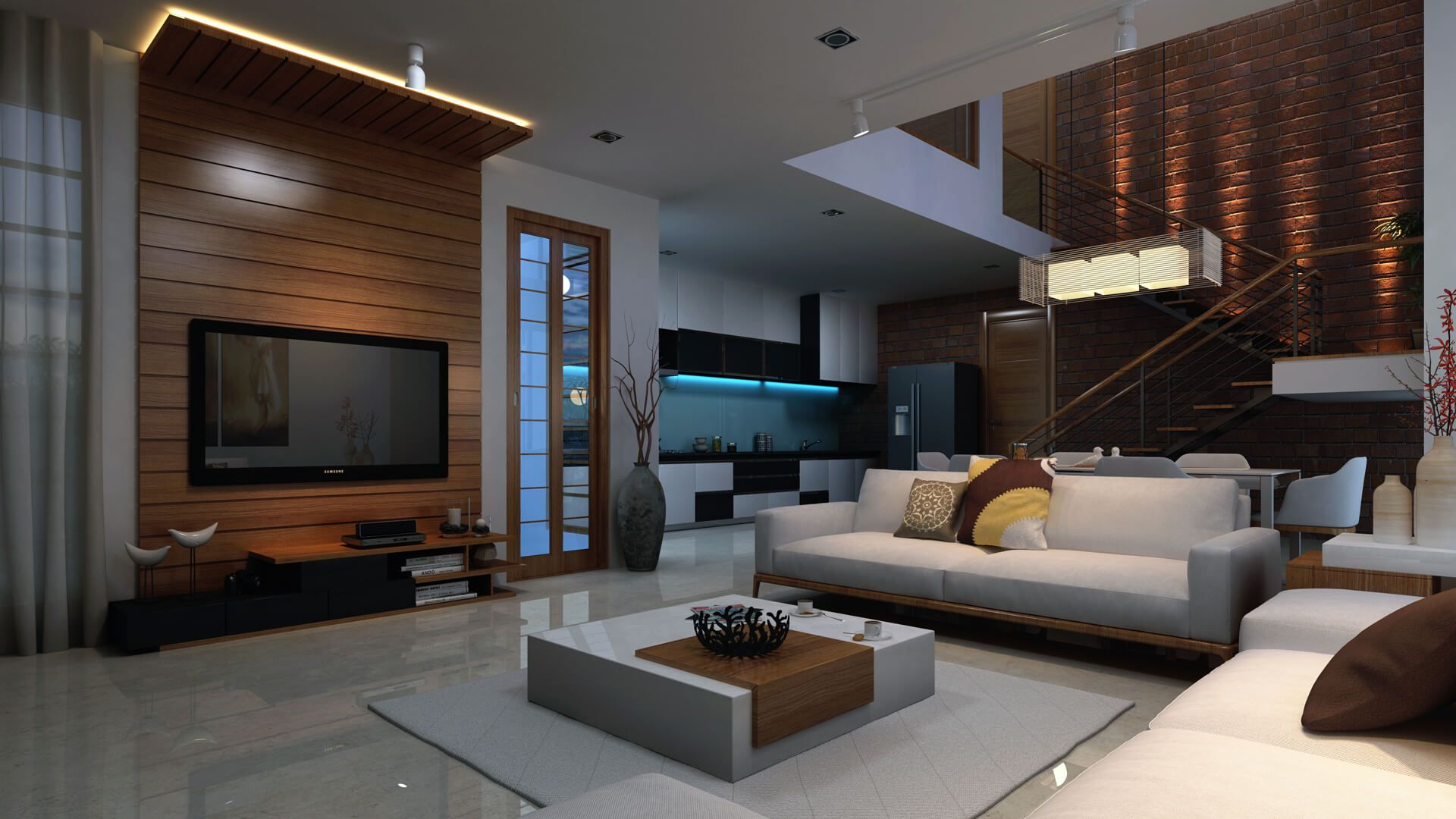 3d #residential #living room #Interior #cgi design rendering