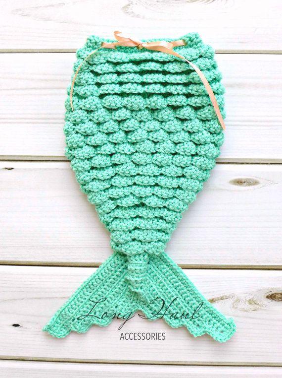 Sirena de ganchillo, Crochet el traje de sirena, ganchillo bebé ...