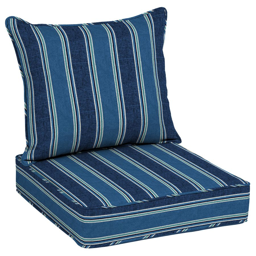 Allen + Roth 2Piece Blue Coach Stripe Woven Blue Stripe