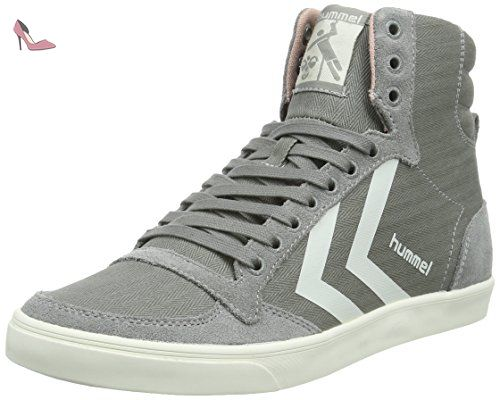 Hummel Slimmer Stadil Duo Canvas High, Sneakers Hautes Mixte Adulte, (Moon Mist), 40 EU