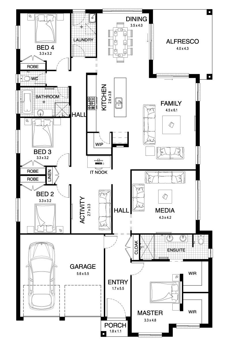 Sierra 29 - Single Level - Floorplan by Kurmond Homes - New Home ...